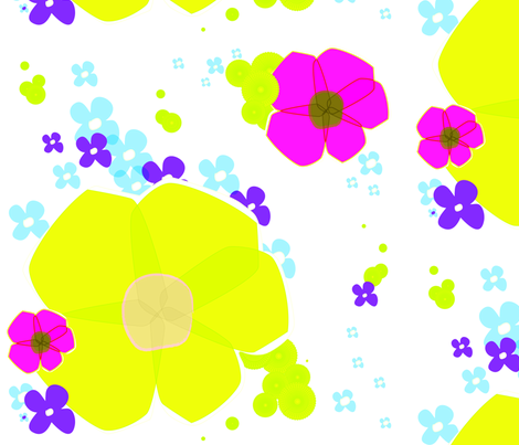 In Full Bloom - Lime fabric by lottiefrank on Spoonflower - custom fabric