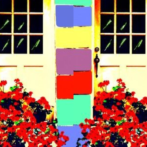 Geraniums at My Cottage Door