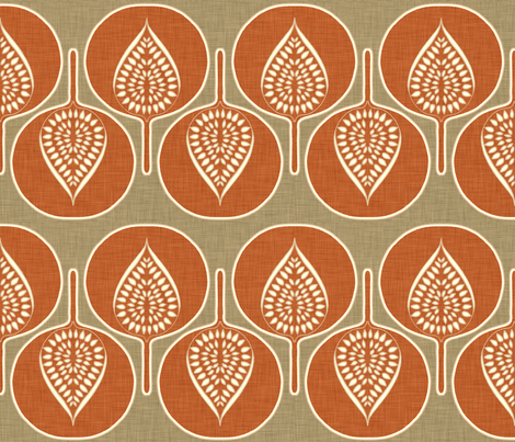 tree_hearts_linen_rustic fabric by holli_zollinger on Spoonflower - custom fabric