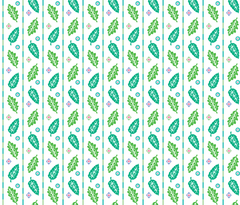 Leaves and Hearts fabric by andibird on Spoonflower - custom fabric