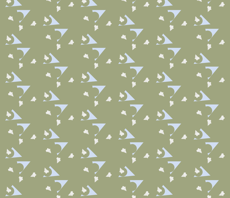 triangulation on green fabric by illustro_perry on Spoonflower - custom fabric