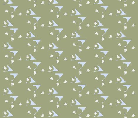 triangulation on green fabric by illustro_perry on Spoonflower - custom fabric
