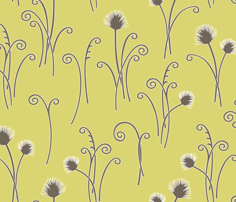 Gold Fern fabric by kayajoy on Spoonflower - custom fabric