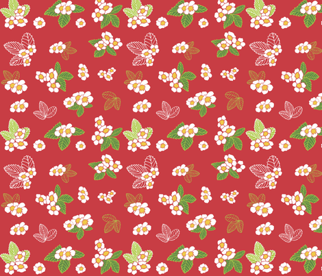strawberry shake fabric by peikonpoika{by}brunou on Spoonflower - custom fabric
