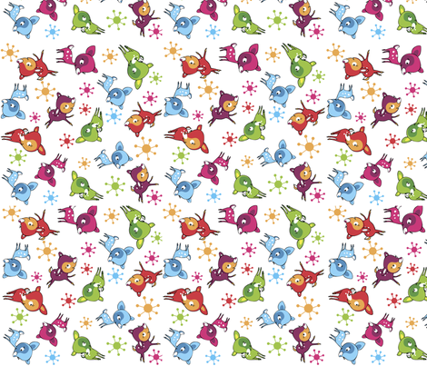 itty bitty bambis fabric by peikonpoika{by}brunou on Spoonflower - custom fabric