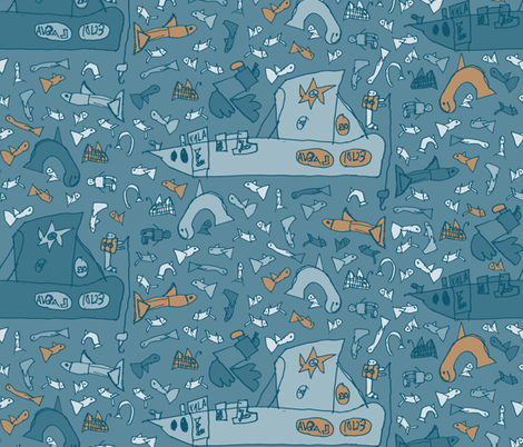 Fishing Boat fabric by tarmo on Spoonflower - custom fabric