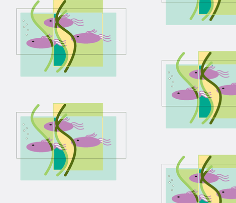 Purple Fish fabric by cherthebear on Spoonflower - custom fabric