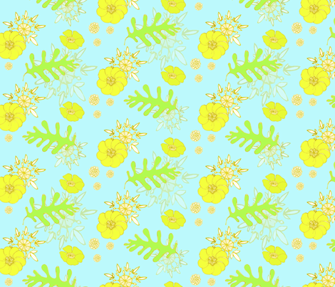botanical fabric by caresa on Spoonflower - custom fabric