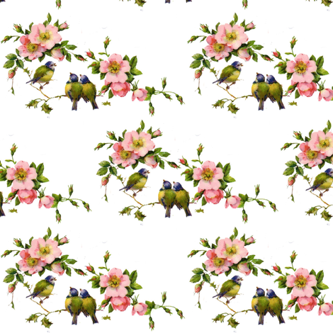 Birds Paradise fabric by peagreengirl on Spoonflower - custom fabric