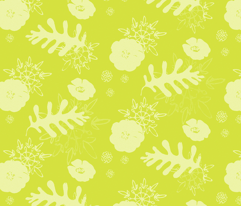 mustard botanical fabric by caresa on Spoonflower - custom fabric