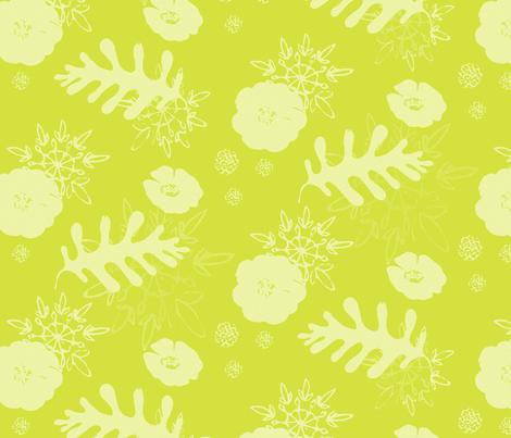 mustard botanical fabric by caresa on Spoonflower - custom fabric
