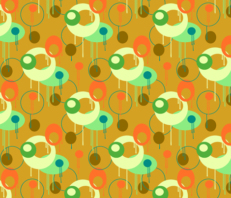 drippy mustard fabric by jenr8 on Spoonflower - custom fabric