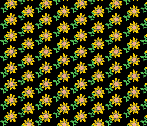 flowers fabric by heidikenney on Spoonflower - custom fabric