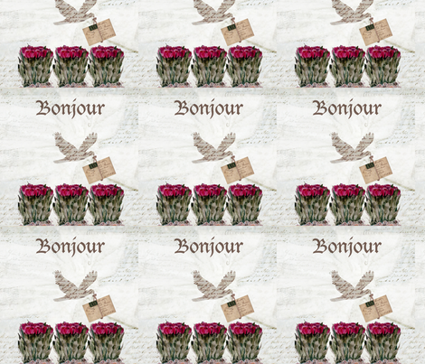Bonjour fabric by karenharveycox on Spoonflower - custom fabric
