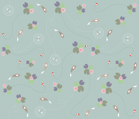 Lazy_Day_Pond fabric by small_pie on Spoonflower - custom fabric