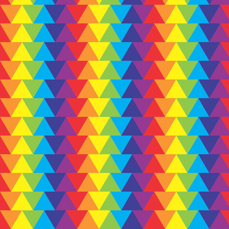 rainbow 3D triangles fabric by majobv on Spoonflower - custom fabric