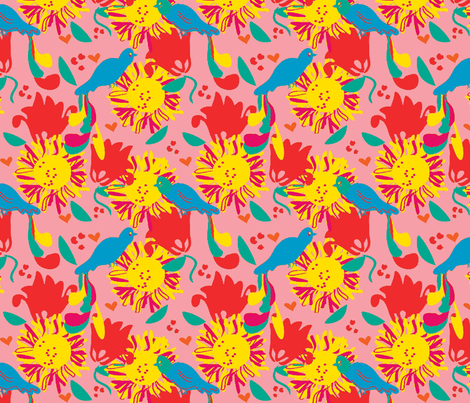 morning muse ©2012 Jill Bull fabric by palmrowprints on Spoonflower - custom fabric