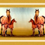arabian horse. mare & foal