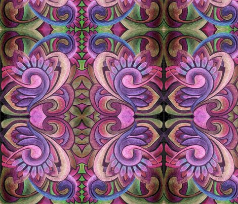 Abstract Swirlique napkin fabric by edsel2084 on Spoonflower - custom fabric