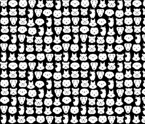 Petits chiens en lignes fabric by kobaitchi on Spoonflower - custom fabric