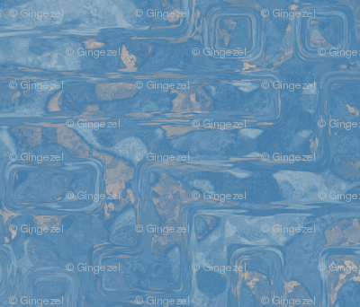 Blue Spring Abstract Art © 2011 Gingezel Inc.
