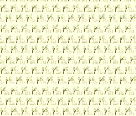 green tree and flowers fabric by suziedesign on Spoonflower - custom fabric