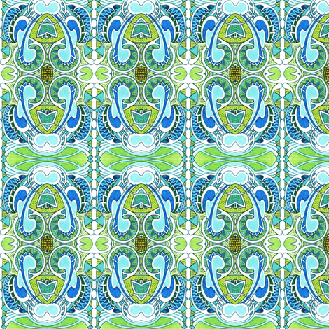 Nouvelle Nouveau Deco mash up fabric by edsel2084 on Spoonflower - custom fabric