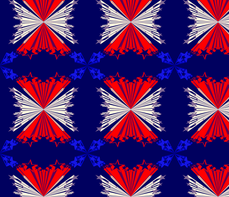 Fourth of July Star Blast fabric by katsanders on Spoonflower - custom fabric