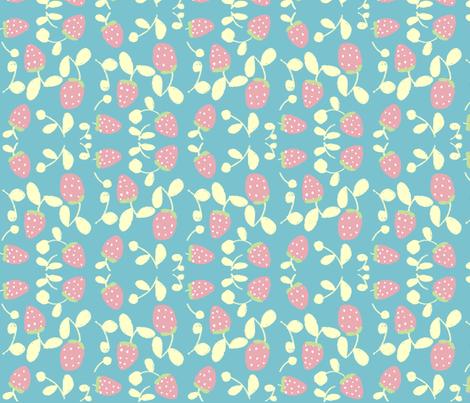 strawberryfield fabric by tamptation on Spoonflower - custom fabric