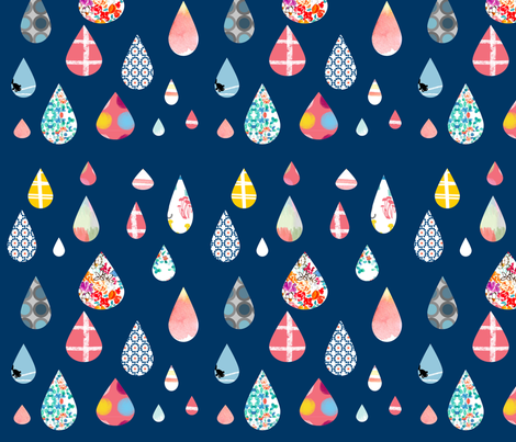 rain fabric by tamptation on Spoonflower - custom fabric