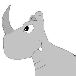 cartoon Rhino, rhinocerous