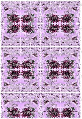 Red lotus pink background kaleidoscope