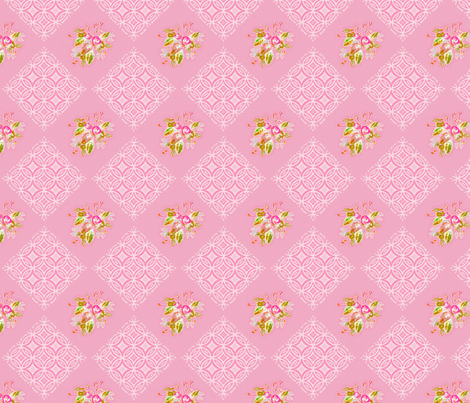 Lace and Roses fabric by joanmclemore on Spoonflower - custom fabric
