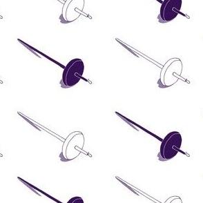 Purple Drop Spindles