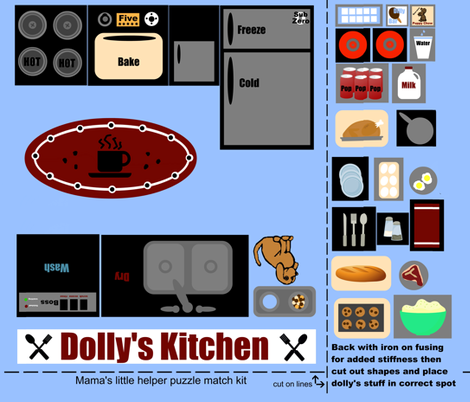 Dolly's Kitchen fabric by paragonstudios on Spoonflower - custom fabric
