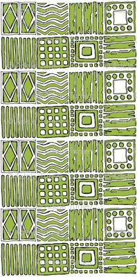 Tribal in Pea Green