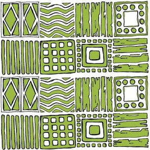 Tribal in Pea Green