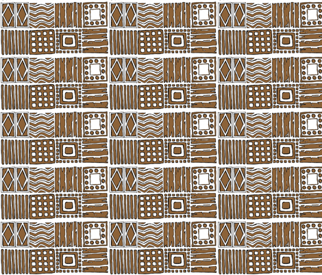 Tribal in Mudbrick fabric by delsie on Spoonflower - custom fabric