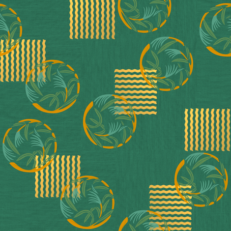 When the grass is at the gate, gold fabric by su_g on Spoonflower - custom fabric