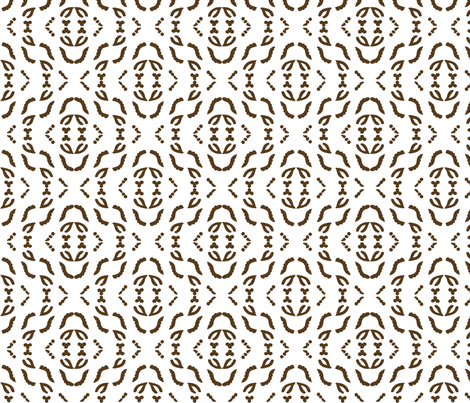 Diagonal_stripe_field_brown_WHITE fabric by mina on Spoonflower - custom fabric