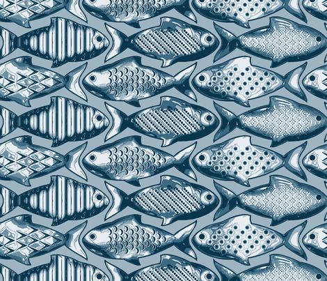 Metal fish large fabric by cjldesigns on Spoonflower - custom fabric