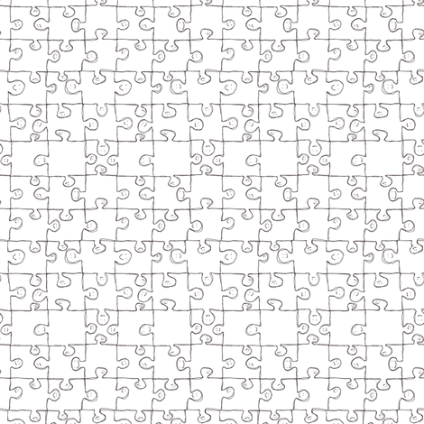 puzzle people fabric by studiojelien on Spoonflower - custom fabric