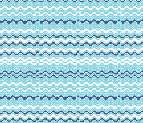 vagues_bleues_ fabric by nadja_petremand on Spoonflower - custom fabric