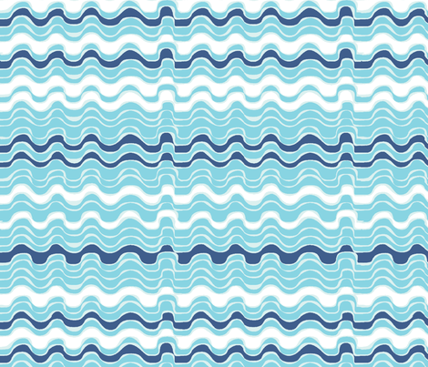 vagues_bleues_M fabric by nadja_petremand on Spoonflower - custom fabric