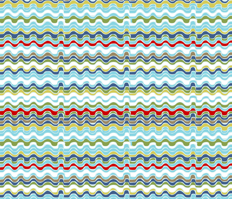 vagues_multico fabric by nadja_petremand on Spoonflower - custom fabric