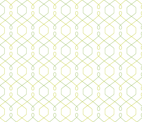 Trellis - Green fabric by pattysloniger on Spoonflower - custom fabric