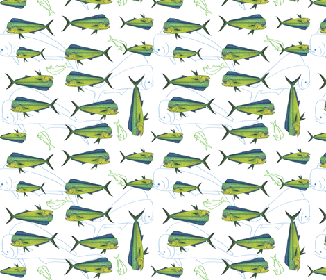 Salt Water Dorado fabric by annalisa222 on Spoonflower - custom fabric