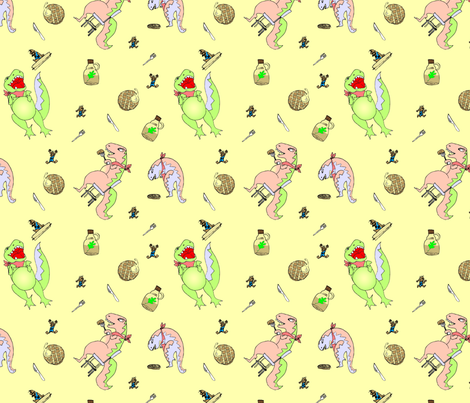 LaraGeorgine_Breakfast_Print-ed fabric by larageorgine on Spoonflower - custom fabric