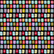 Square poppy colorful fabric