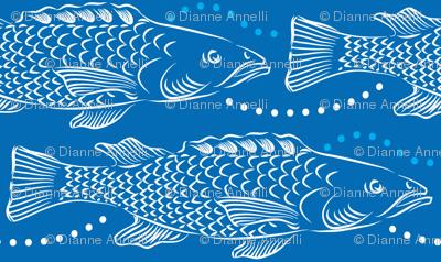 Northern Fish On Blue